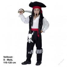 Šaty na karneval - Pirát JACK 110-120 cm ( 4 - 6 let )